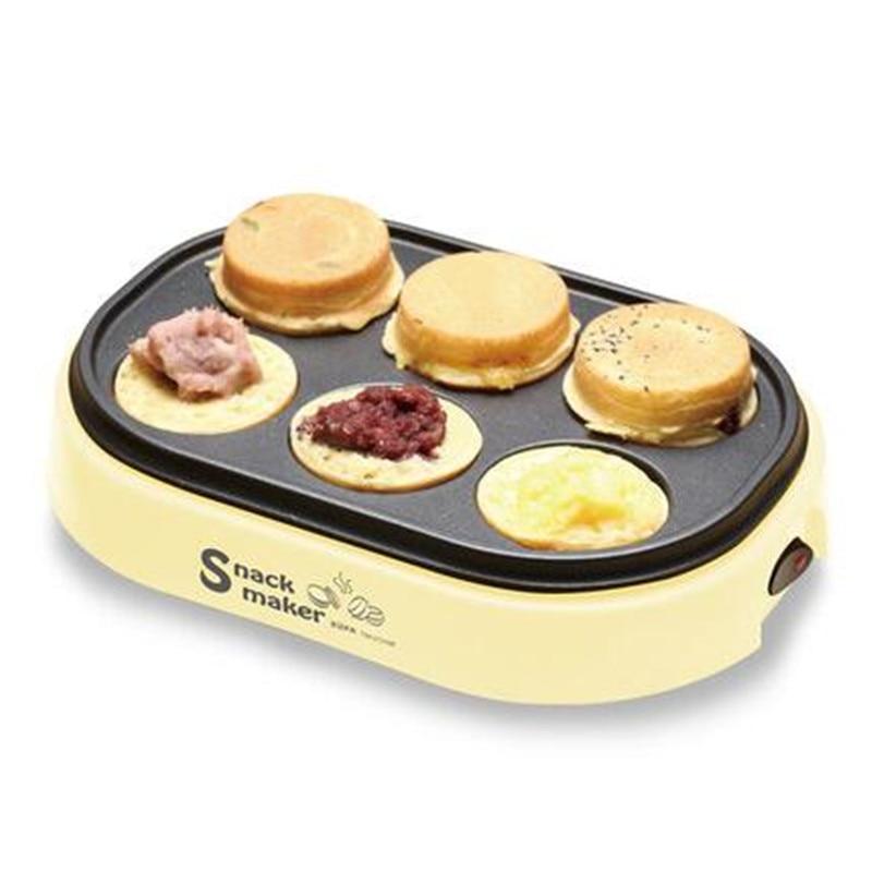 220 فولت الكهربائية البيض المحمص همبرغر فطيرة الخبز آلة الفاصوليا الحمراء كعكة فطيرة صانع وجبة إفطار صغيرة كريب البيض المقلي مقلاة