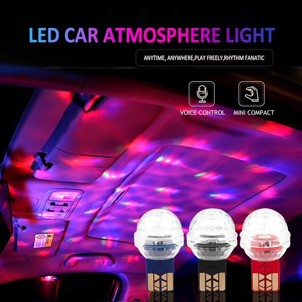 Carro mini usb led rgb luz ambiente dj lâmpada atmosfera para jaguar f-ritmo e tipo e x s f tipo xjl xfl xf xj xk decoração