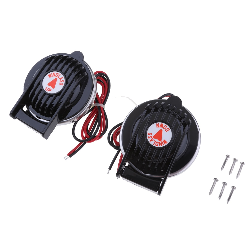 2 piezas de ancla de barco marino Winch pie compacto interruptor negro