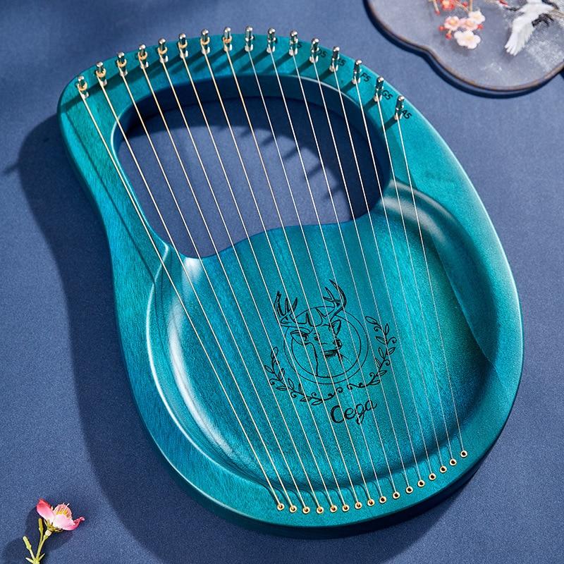 آلة موسيقية Lyre Harp 21 سلسلة أخضر صغير Lyre Harp 16 سلسلة الغزلان أدوات خشبية Musicali آلات موسيقية EI50HP