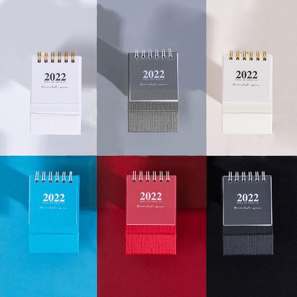 Календарь 2022 изящный простой стол освежающие мини-катушки принадлежности для планшетов настольные блоки офиса школы L1C6