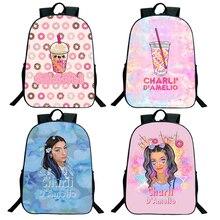 16inch Charli Damelio Backpack Boys Girls Teens 3D Travel Bag Zipper Bookbag Schoolbag Women Men Sho