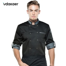 chef shirt Chef Jacket Long Adjustable Sleeve Men Women Unisex Cook Coat Restaurant Hotel Kitchen Wear Waiter Uniform