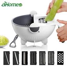 Trancheuse manuelle égouttoir bol coupe-légumes et fruits   Gadget de cuisine, Mandoline râpe à découper avec panier de vidange rotatif