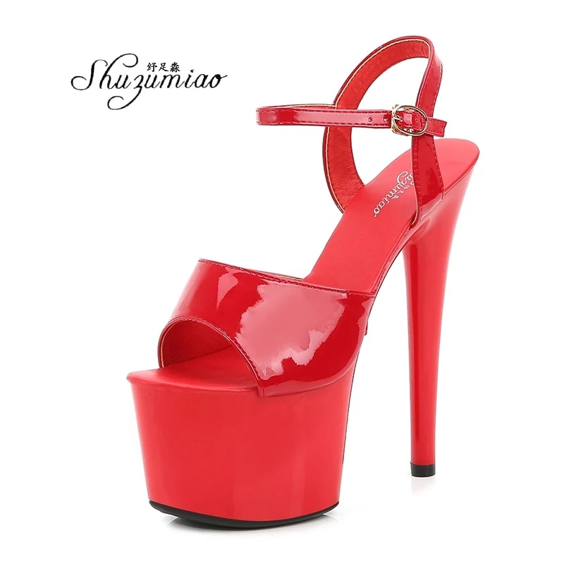 Pole Dance Shoes Stripper High Heels Women Sexy Show Shoes Sandals Party Club 13 15 17 CM Platform High-heeled Shoes Wedding New