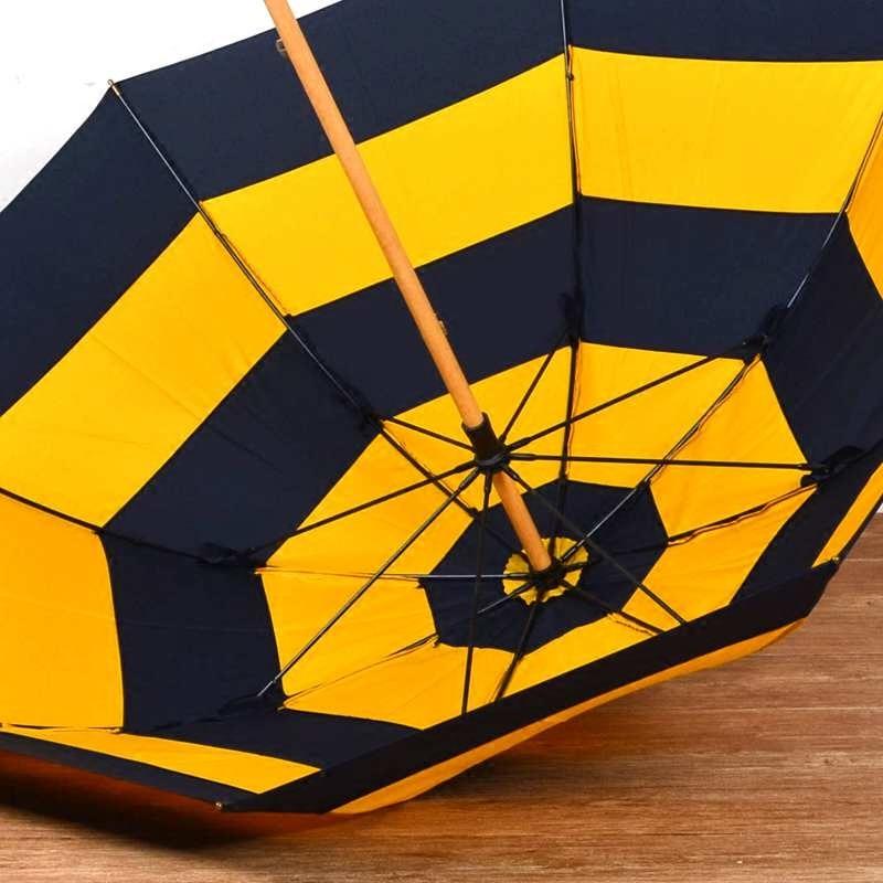 British Wind Stripe Windproof Umbrella Sun Big Double Women Men's Long Handle Umbrella UV Clear Rain Umbrellas Parapluie SY309 enlarge