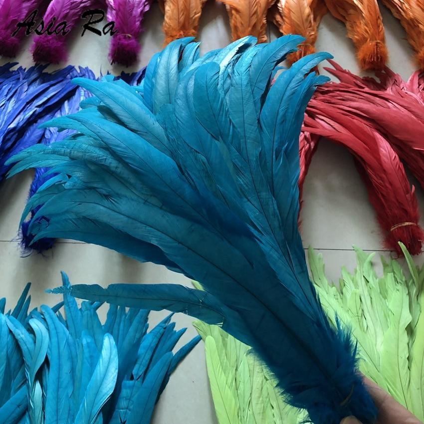 50 Piezas 12 14 Pulgadas 30 35 Cm Plumas De Gallo O Pluma De Pollo Rooster Tail Feathers Tail Feathersfeather 30 Aliexpress