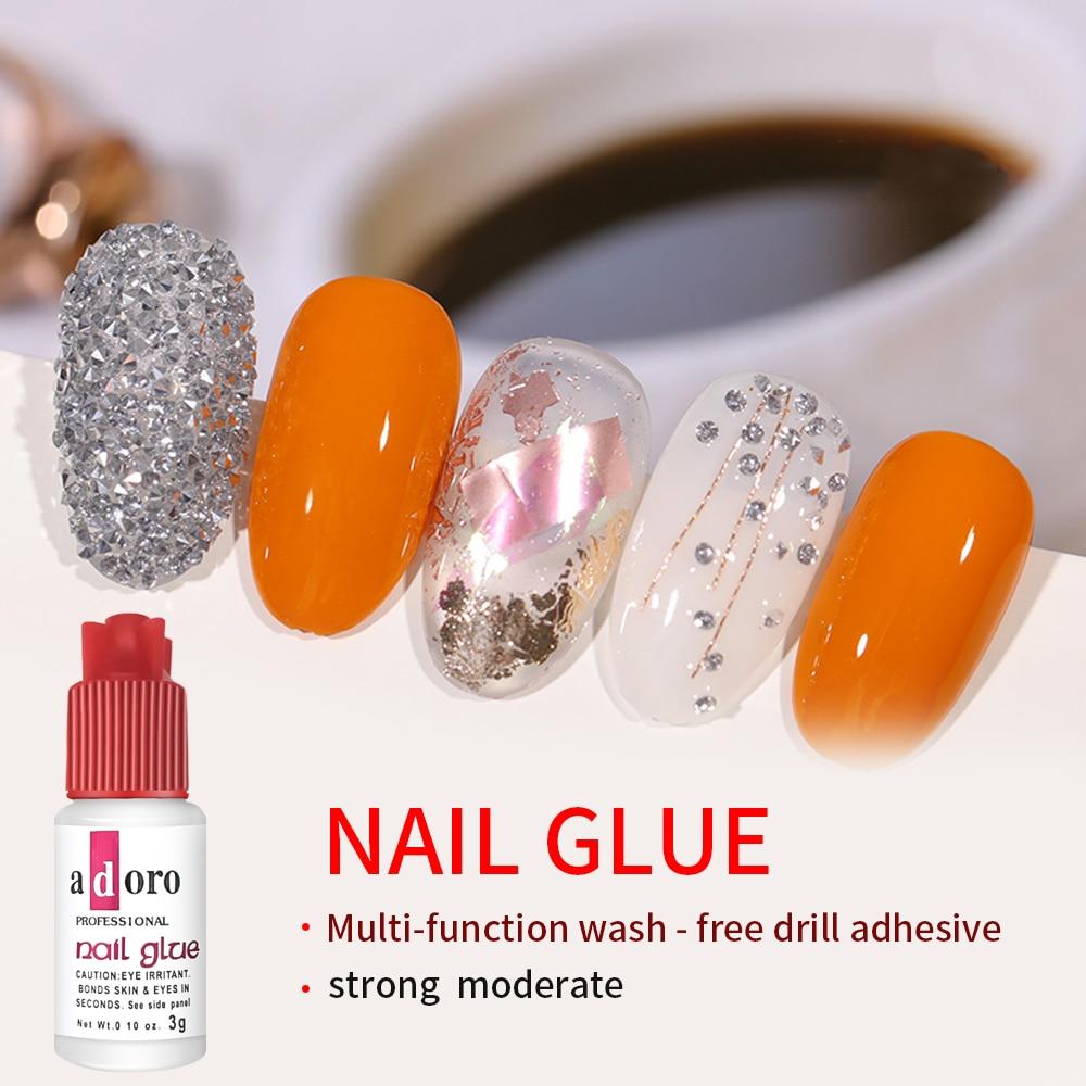 2 Bottles Super Nail Glue Professional Salon Quality,Quick and Strong Nail Liquid Adhesive 3g