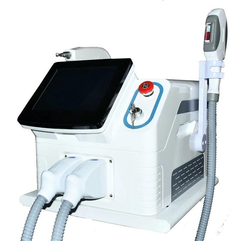 آلة إزالة الشعر المحمولة ، OPT/SHR IPL ، إزالة الوشم بالليزر ND YAG ، الكربون ، للصالون ، CE