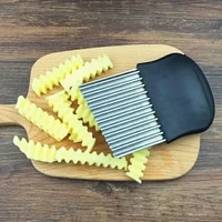 vegetable crinkle stainless steel wavy cutter blade onion potato chip slicer kitchen tools hot sale
