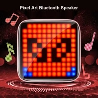 led displays portable speakers bluetooth powerful bluetooth speaker pixel art creation unique gift soundbar