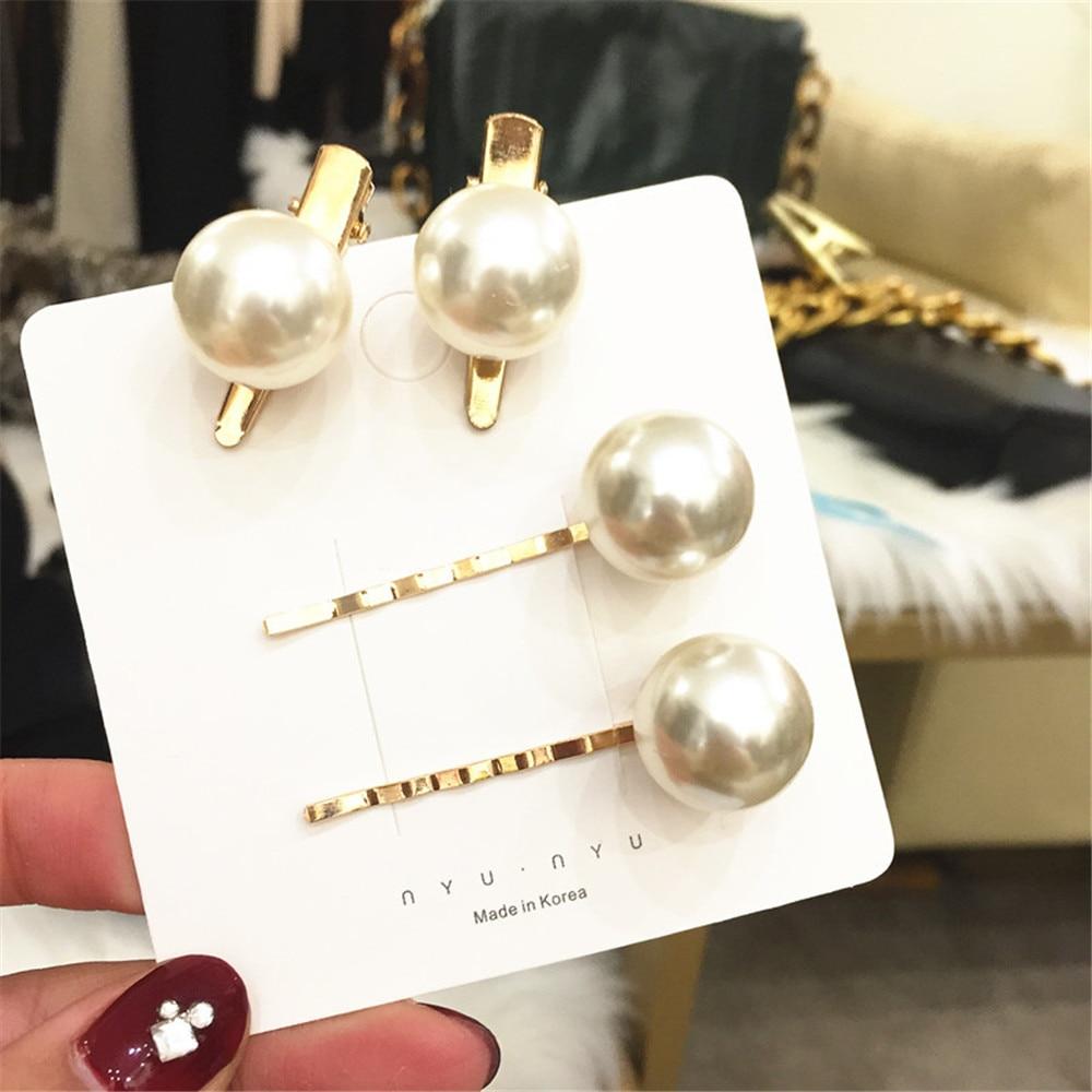 Horquillas de perlas blancas de circón para mujer adulta, horquillas para el pelo, horquillas para la cabeza coreanas Vintage de moda para chica, Accessories-AS-W20 para la cabeza