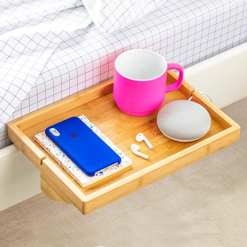Bedroom Furniture Bedside Table Creative Tray Wooden Table Bedside Table Mobile Rack Creative Dormitory Bedside Table Table