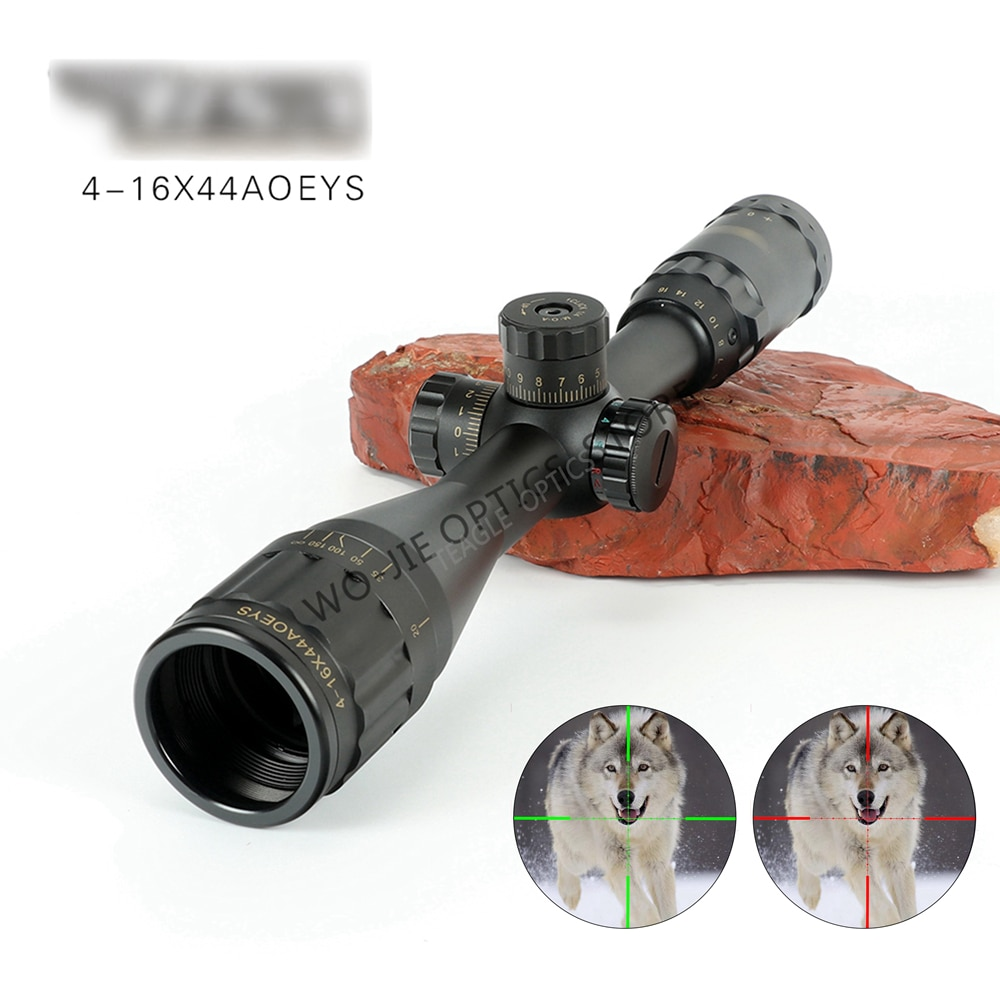 Óptica 4-16x44 ST vista óptica táctica verde rojo iluminado Rifle de caza Rifle alcance francotirador Airsoft pistolas de aire