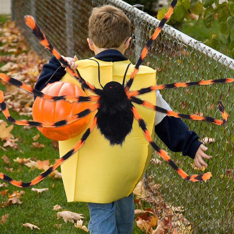 2 pcs forma de aranha sacos halloween decoracao traseira mochila de halloween para criancas