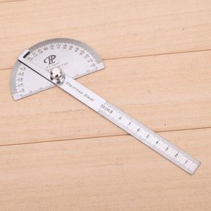 180 градусов Нержавеющаясталь транспортир угловой видоискатель поворотный измерительная линейка; Деревообработка Инструмент для измерен...