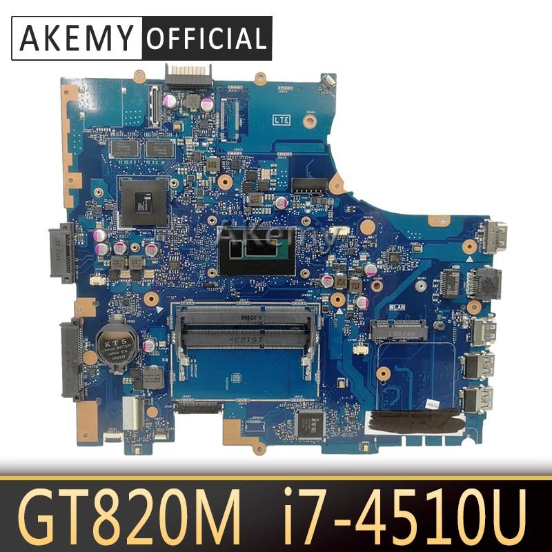 Akemy PU551LD Laptop motherboard Para ASUS PRO551L PU551LD PU551LA PU551L P551L Mainboard teste ok REV2.0 I7-4510U GT820M