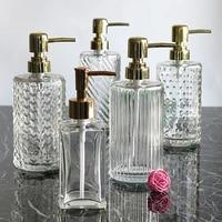 Bouteille en verre a pousser de 400ml pour desinfectant pour les mains  shampoing  Gel douche  salle de bains  bouteille a pression  pour savon  Lotion