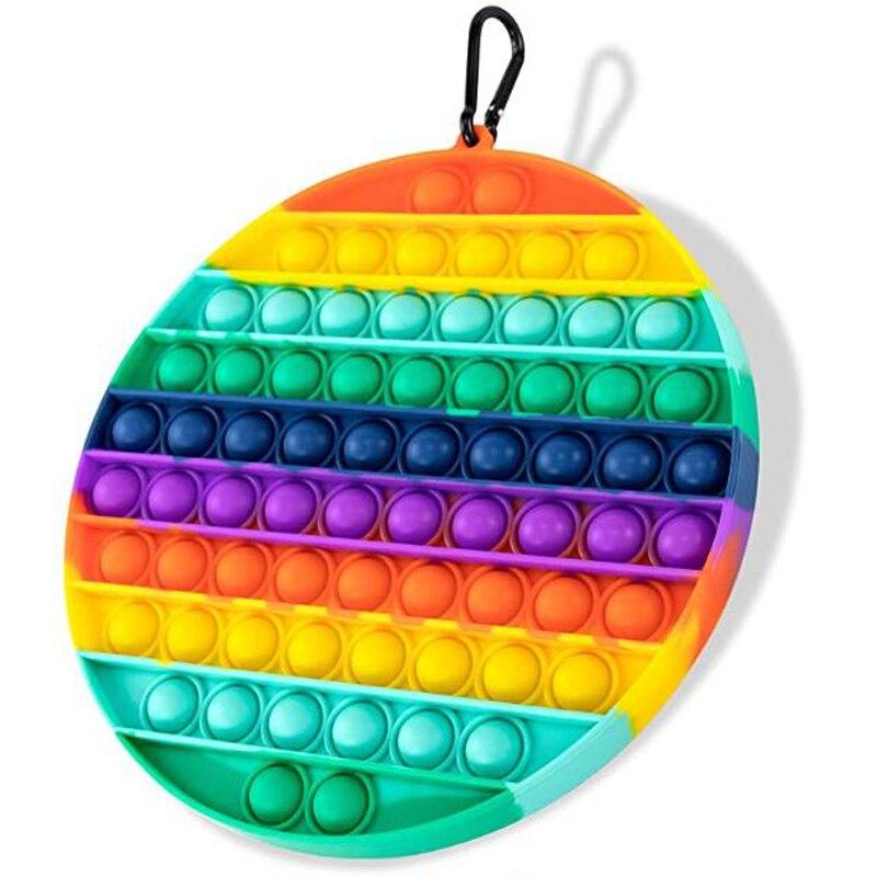 BIG SIZE Fidget Toys Pop It Square Antistress Toy Bubble Figet Sensory Squishy Jouet Pour Autiste For Adult Kids Gift поп и enlarge