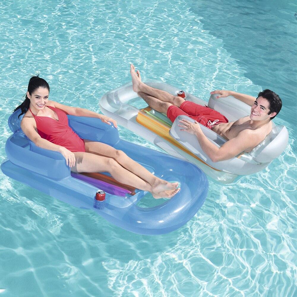 Colchón de aire hinchable para Piscina, colchón de agua Inflable para Piscina
