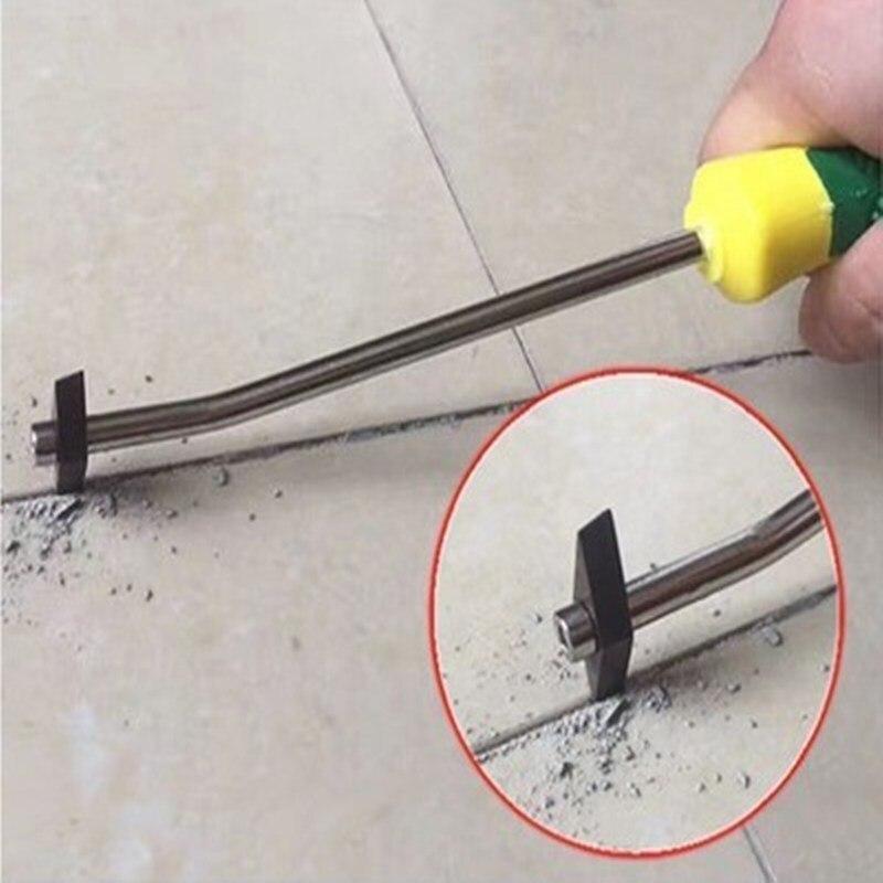 Punta da trapano per rimozione di fughe di piastrelle in acciaio al tungsteno professionale per rimozione di fughe di piastrelle in ceramica per utensili manuali per la pulizia del cemento con giunture a parete