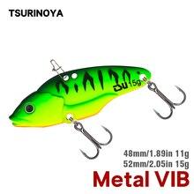 TSURINOYA métal VIB pêche leurre attaquant 48mm 52mm 11g 15g Vibration dur appâts manivelle Wobbler basse brochet pêche dhiver