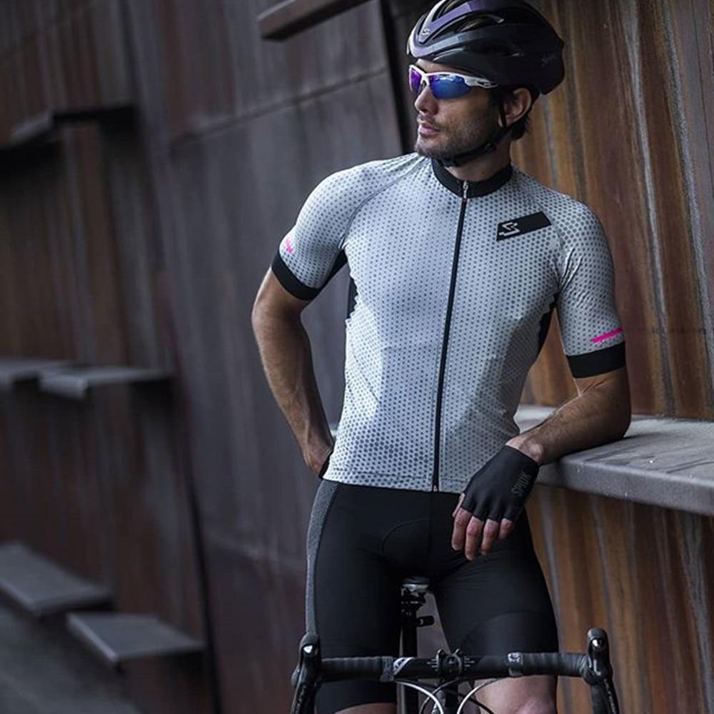SPIUKful-Conjunto de Ropa de Ciclismo para verano, Maillot transpirable para bicicleta de...