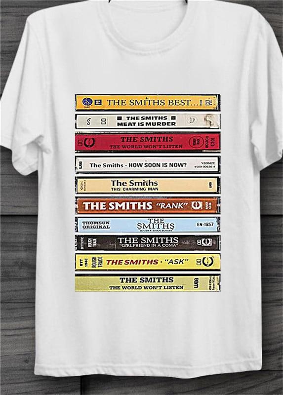 The Smiths álbumes Cassette Cool Vintage Unisex Camiseta de manga corta Camiseta