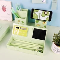 1pc large capacity pencil case box penholder school supplies stationery with calculator and mirror 4 in 1 multi function