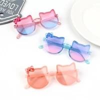 elbru new bow kitty shape children sunglasses ultraviolet proof eye protection baby sunglasses childrens fashion glasses