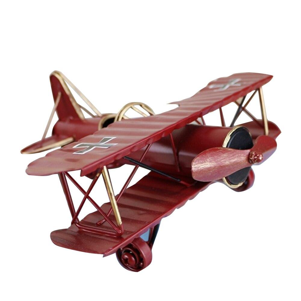 Aeronaves artesanato decoração para casa modelo de ferro decoração decalques decoração retro artesanato forjado avião acessórios de decoração para casa