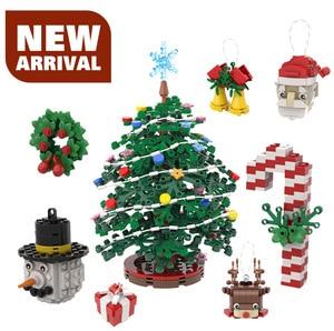 Moc Christmas Tree Decorations Decoration Model Building Blocks Ideas Children's Toys Boy Toys Christmas Gifts