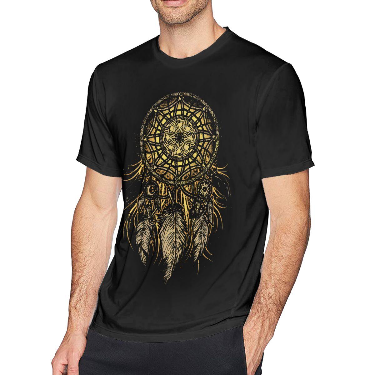 Camiseta atrapasueños grande, camiseta atrapasueños para hombre impresionante, camiseta gráfica de algodón para playa, camiseta de talla grande