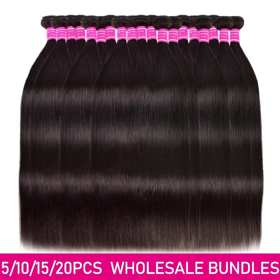 Straight Human Hair Bundles Wholesale Price 3/5/10/20 Bundles Deal Brazilian Human Hair Unpressed Hu