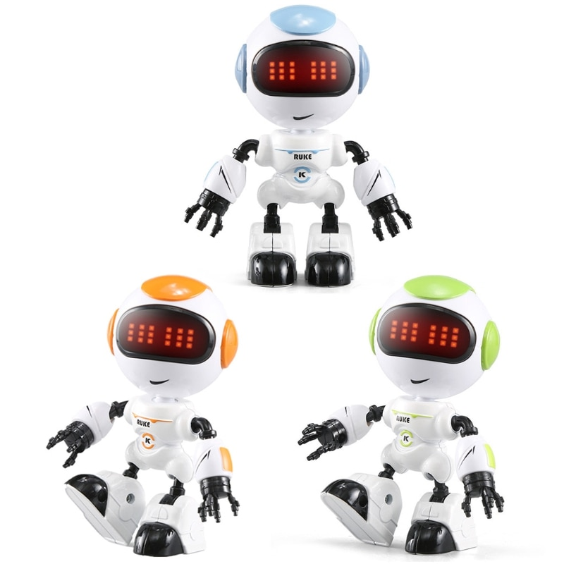 Kids Touch Control Mini Robot LED Eyes Voice DIY Body Gesture Educational Toys 40JC enlarge