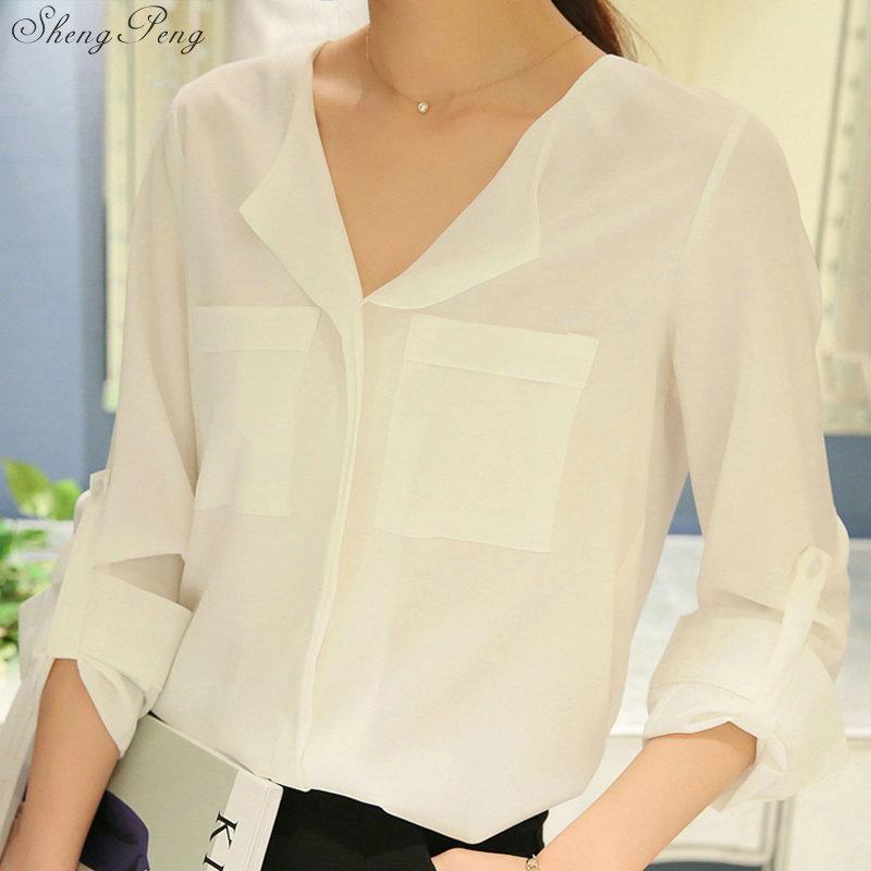 Casual Loose Women Shirts 2019 Autumn New Fashion Collar Blouse Long Sleeve Buttons White Shirt Women Tops Streetwear V1769