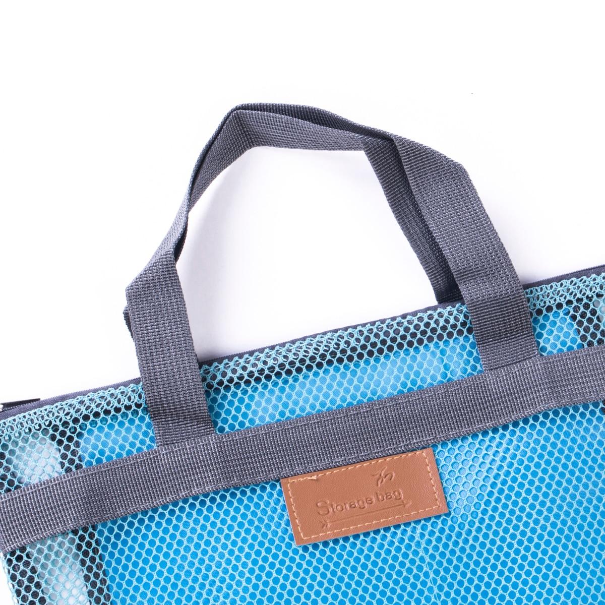 Lady Women Mesh Makeup Bag Cosmetic Bag Travel Toiletry Zipper Wash Case Handbag