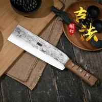 hand forged bone knife high carbon steel bone knife kitchen sharp axe knife professional chef knife thick lancet tang knife