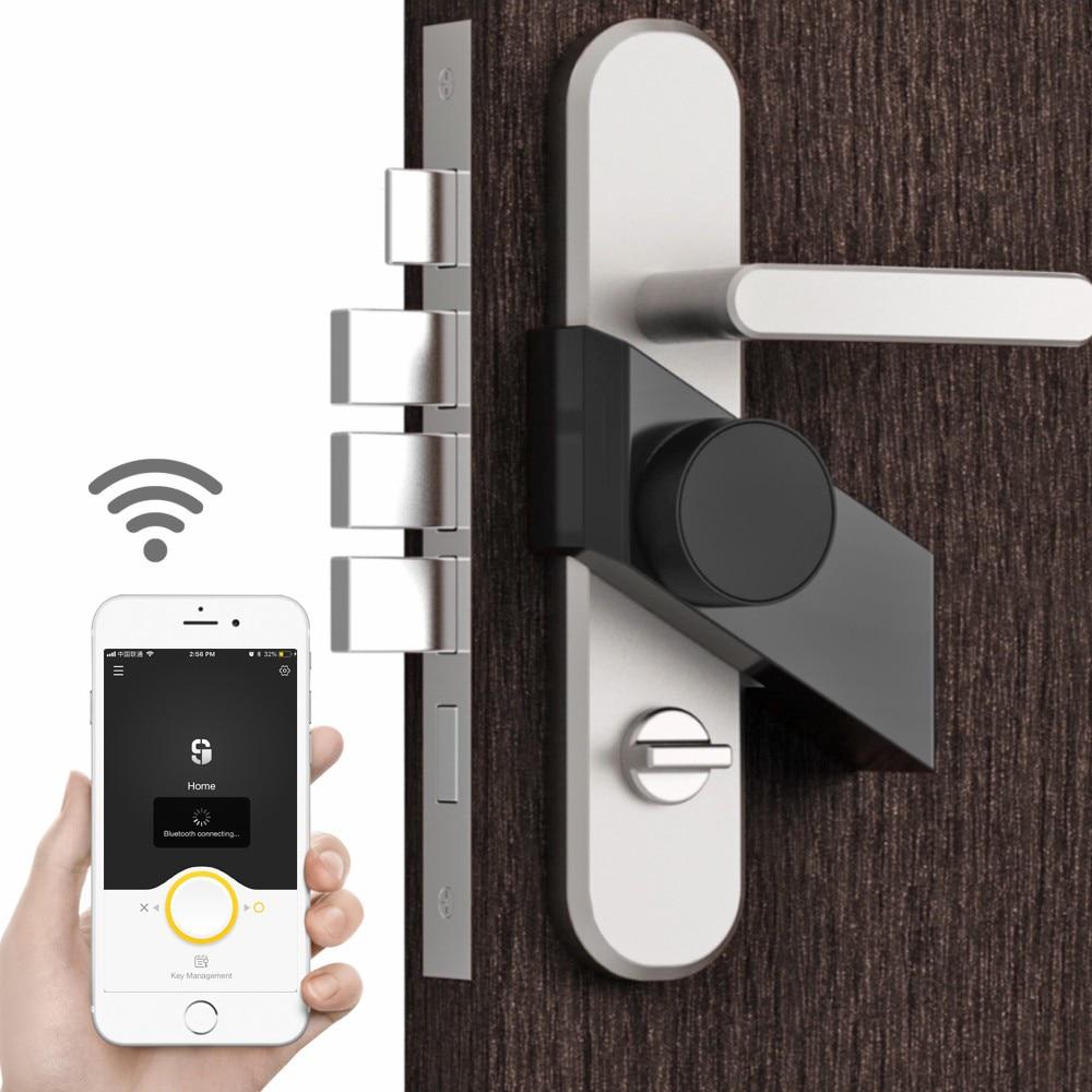 Promo Free Shipping Sherlock Stick Smart Lock  with 4pcs Keys Phone App Control  Bluetooth-compatible Electronic Wireless Keyless Lock