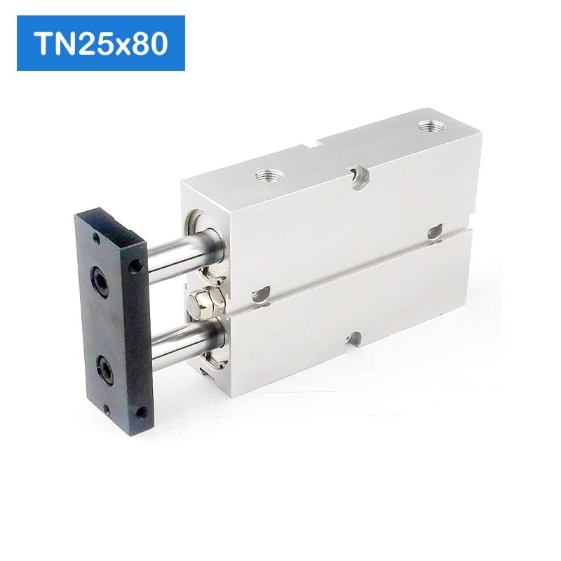 TN25 * 80-S Freies verschiffen 25mm Bohrung 80mm Hub Compact Air Zylinder TN25X80-S Dual Action Air Pneumatische Zylinder