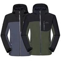 outdoors men softshell climbing jacket for camping hiking camping skiing waterproof cycling fleece warm coat 5xl