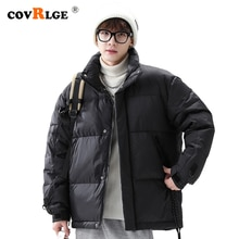Covrlge Men Brand Winter New Style Stand-up Collar Basic Down  Jacket Solid Color Thickened Down  Co