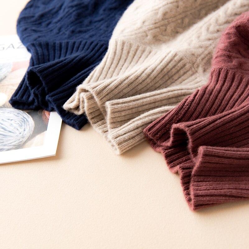 winter long sweater dress turtleneck women girls wool pullover top full sleeves casual warm female warm sweaters enlarge