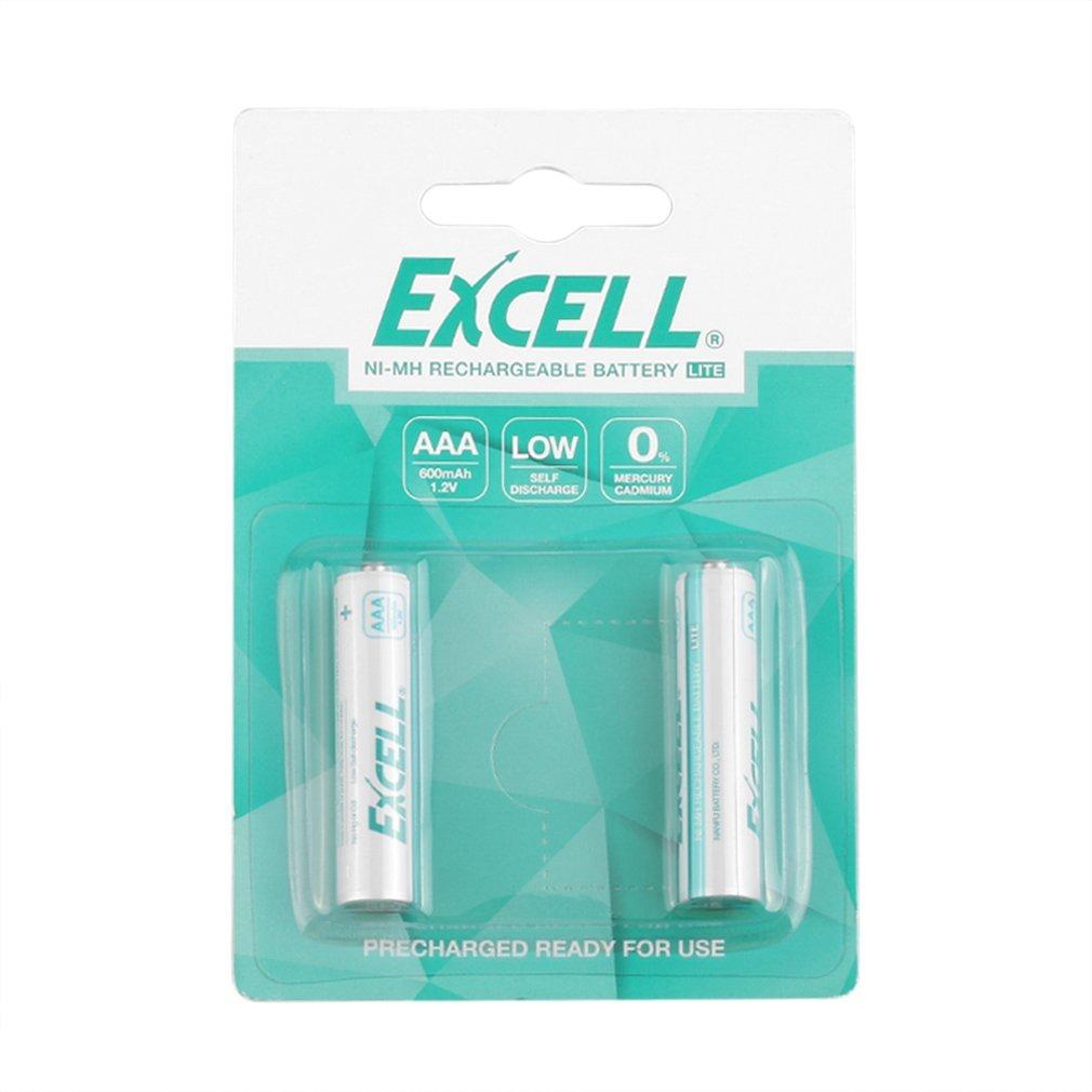 Bateria recarregável recarregável recarregável 1.2 v 2400 mah aa ni-mh durável da baixa descarga do auto pré-carregada baterias 2 pces excell aa