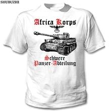 shubuzhi New Arrival MenS Fashion TIGER PANZER I AFRICA KORPS WWII - NEW WHITE COTTON TSHIRT Tee Shirt