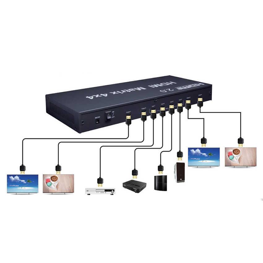 Conmutador De Matriz Hdmi 2 0 4x4 Matriz Hdmi 4x4 Con Control Edid Rs232 Hdcp 2 2 4kx2k 60hz Hdr Cables Hdmi Aliexpress