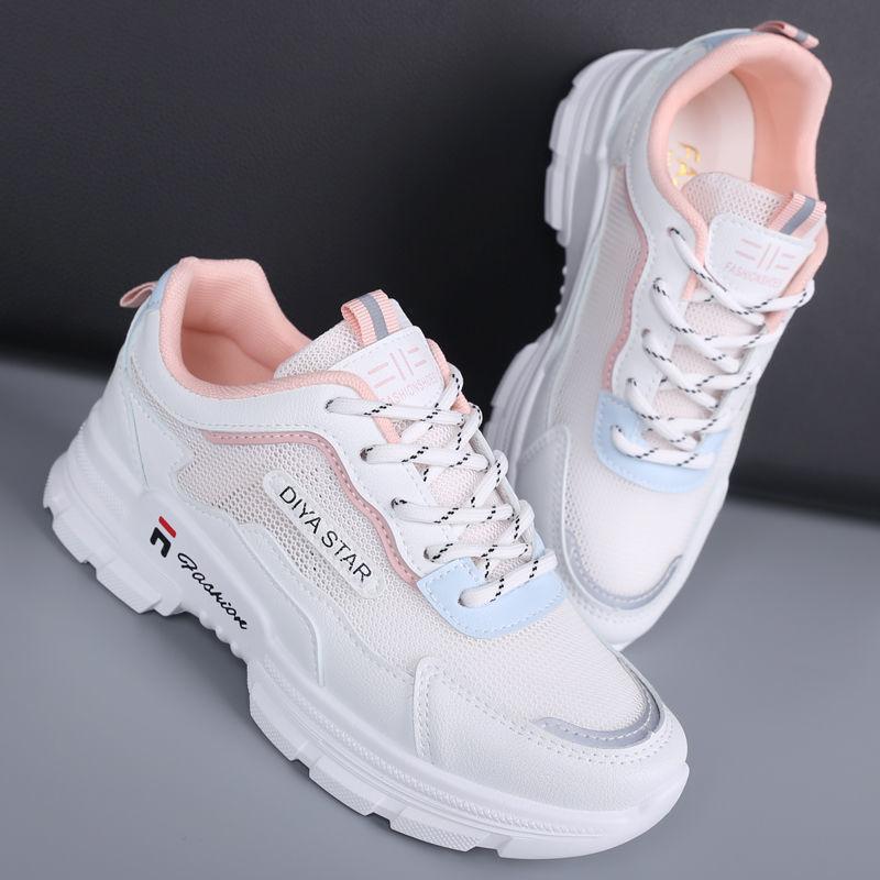 2021 الصيف النساء أحذية مصممين الأبيض الرياضة تنفس شبكة منصات أبي أحذية رياضية مكتنزة الإناث فيلاس تنيس سلة فلكنيز
