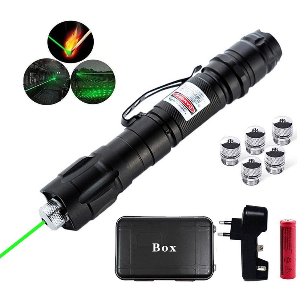 Охотничьи ножи высокой Мощность 5 мВт лазерная указка зеленый лазер регулируемый фокус горит красный лазерный указатель ручка 532nm 5000 метров...