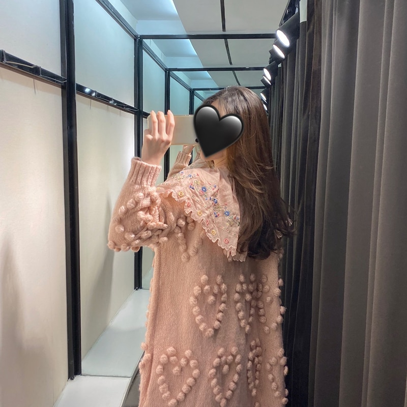 2020 Cardigan Feminino Women's Sweater Strawberry Long Pure Handmade Heavy Industry Lazy Style Designer Uncle enlarge
