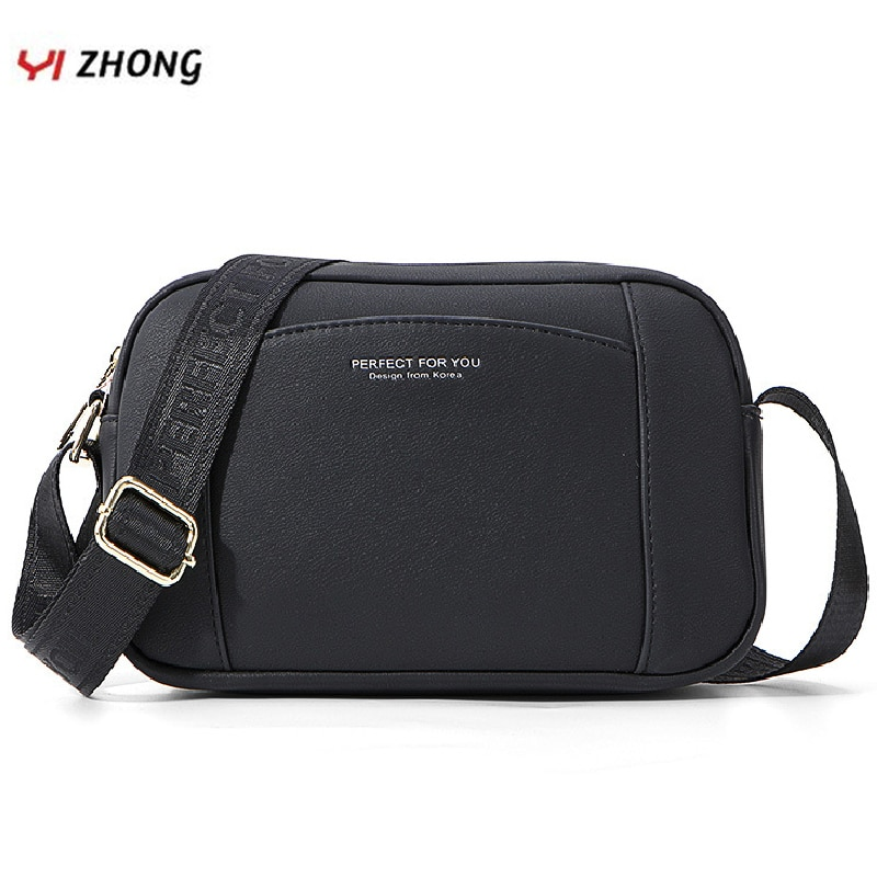 YIZHONG Simple Leather Luxury Shoulder Bag Crossbody Bags for Women Multifunction Bucket Messenger Bag Ladies Hand Bag Sac